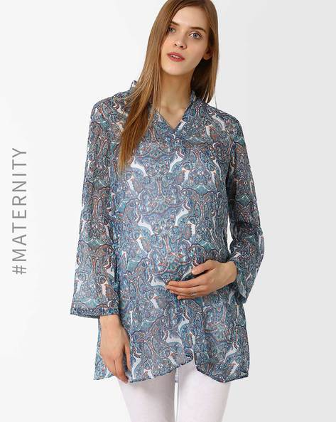 Paisley Maternity Tunic By Oxolloxo ( Multi )