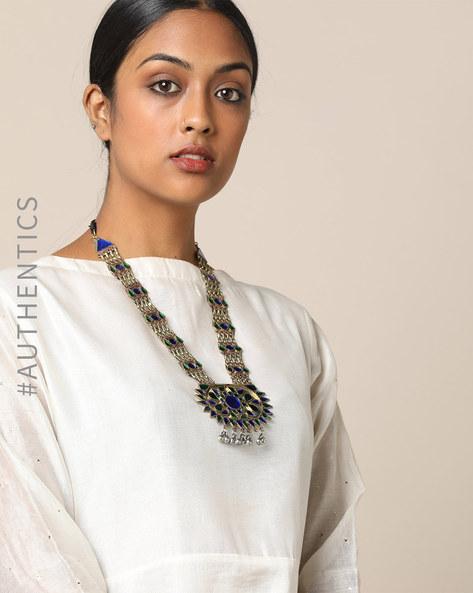 Afghan Tribal Long Necklace By Indie Picks ( Multi )