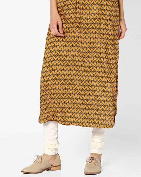 Churidar Leggings With Elasticated Waistband By Global Desi ( Offwhite )