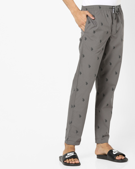 Micro Print Slim Fit Pyjamas By US POLO ( Grey )
