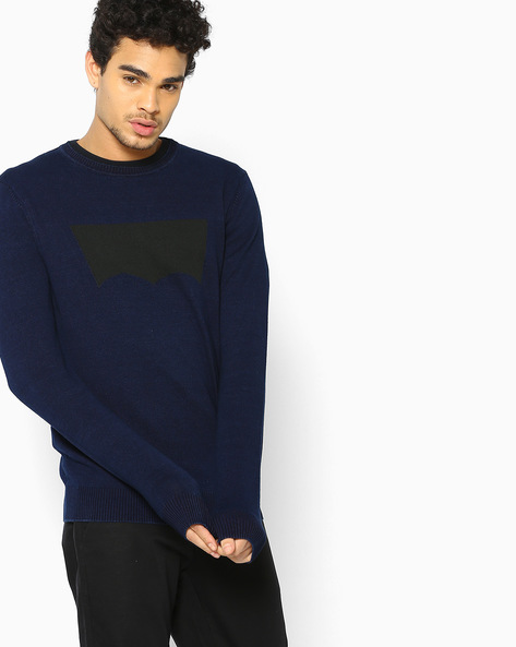 Printed Crew-Neck Pullover By LEVIS ( Blue )