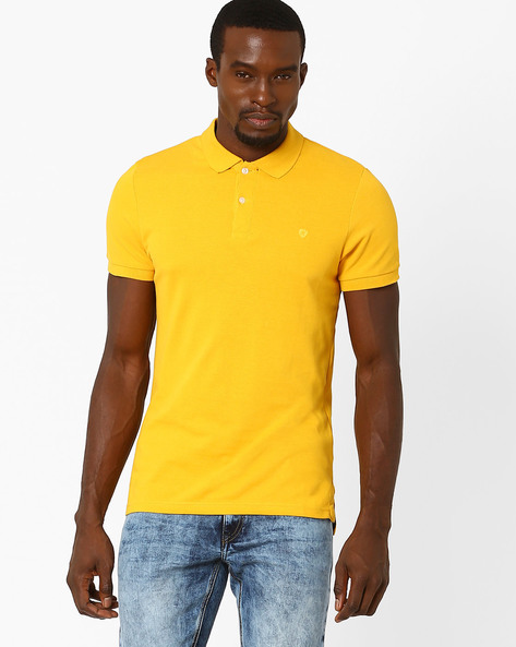 Short-Sleeve Polo T-shirt By Celio ( Yellow )