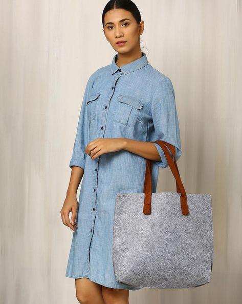 Felt Tote Bag By Indie Picks ( Grey )