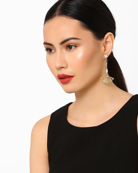 Nacre Drop-Earrings By Pipa Bella ( Gold )