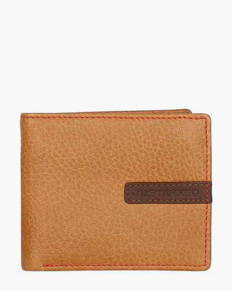 Treated Leather Edge Stitched Wallet By JUSTANNED ( Lgttan )