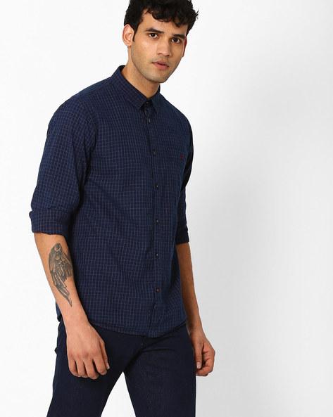 Slim Fit Checked Shirt By CRIMSOUNE CLUB ( Black )