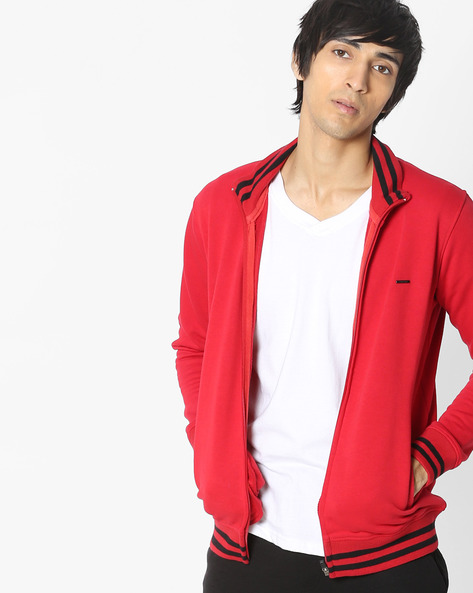 Sweatshirt With Front Zipper By PROLINE ( Red )