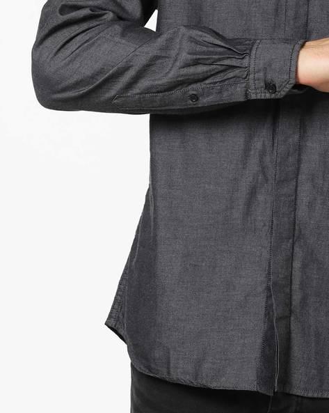 Classic Shirt With Contrast Yoke By AJIO ( Olive )