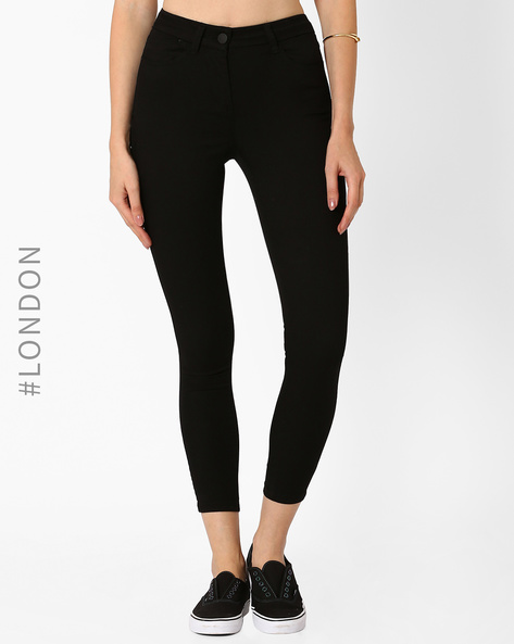 High-Waist Super-Skinny Jeans By Marks & Spencer ( Black )