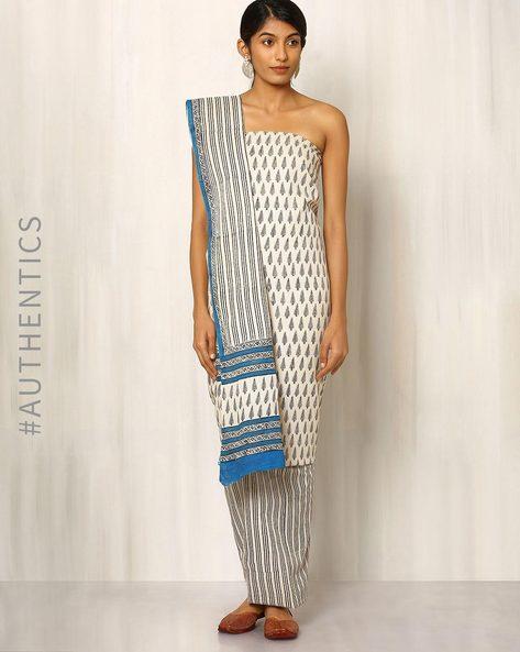 Bagru Print Cotton Dress Material By Indie Picks ( Multi ) - 460016889001