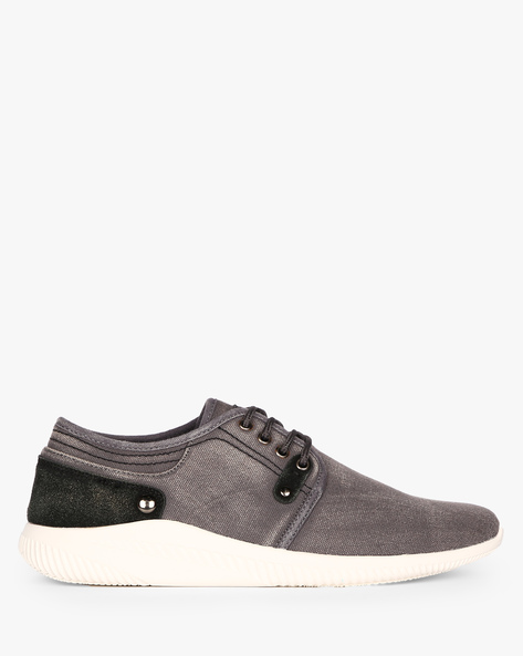 Panelled Sneakers With Lace-Ups By Nuboy ( Grey )