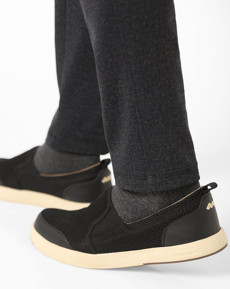 Mesh Slip-On Casual Shoes By Spunk ( Black )