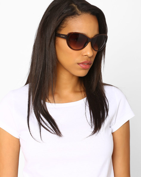 Cat-Eye Sunglasses By Joe Black ( Brown )