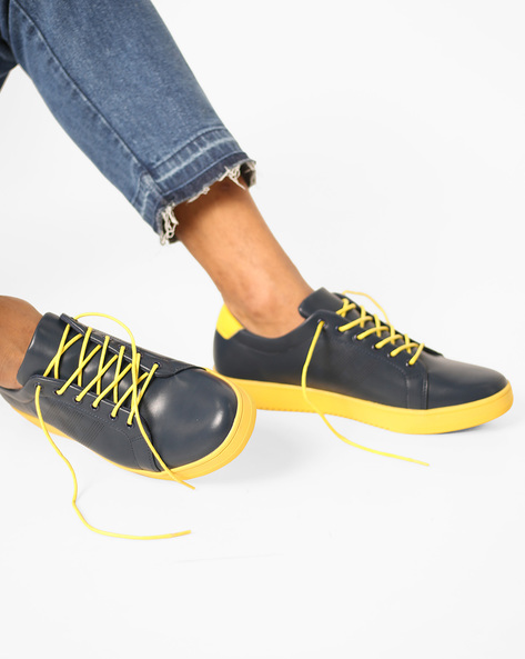 Lace-Up Sneakers With Perforations By Nuboy ( Navy )