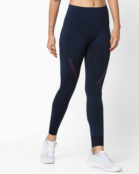 Seamless QuickDry Leggings By PERFORMAX ( Navy )