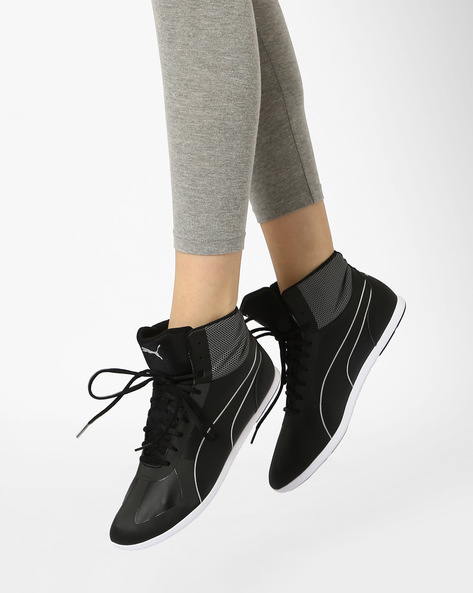 Mid-Top Casual Shoes By Puma ( Black )