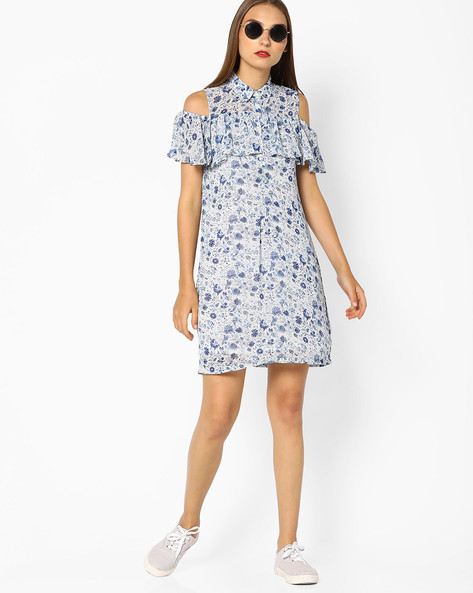 Floral Print Cold-Shoulder Dress By And ( Ltmulti )