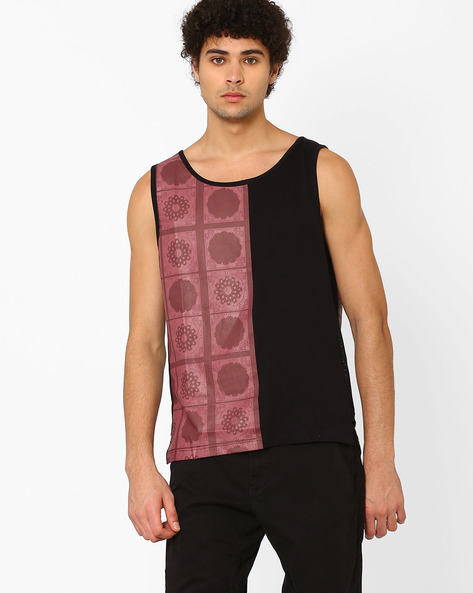 Tank T-shirt With Printed Panels By SHELTR ( Multi )