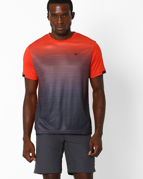 Ombre-Dyed T-shirt With Quick Dry By PERFORMAX ( Red )