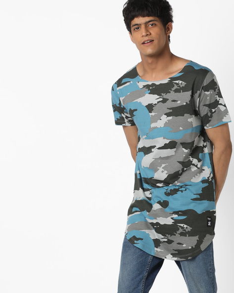 Camouflage Print T-shirt By KULTPRIT ( Assorted )