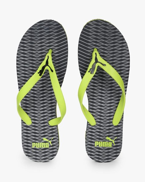 Printed Flip-Flops With Branding By Puma ( Yellow )