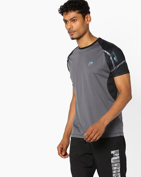 Crew-Neck T-shirt With Raglan Sleeves By PROLINE ( Darkgrey ) - 460062639006