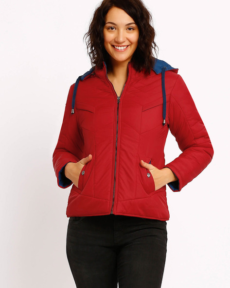 Reversible Hooded Jacket By Fort Collins ( Red )