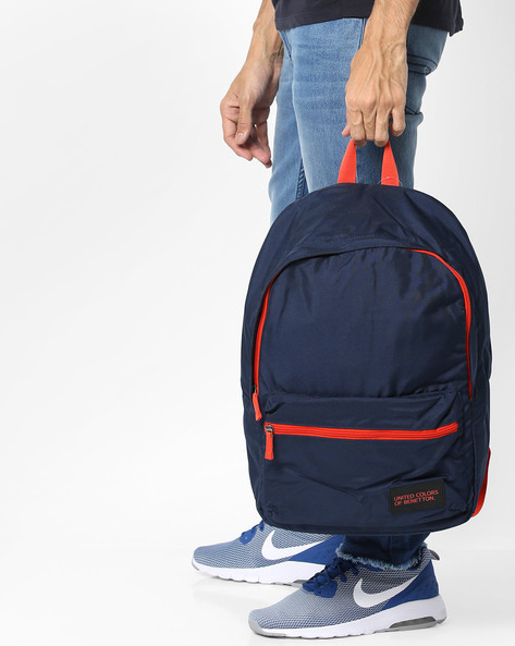 Colourblock Laptop Backpack By UNITED COLORS OF BENETTON ( Darkblue )