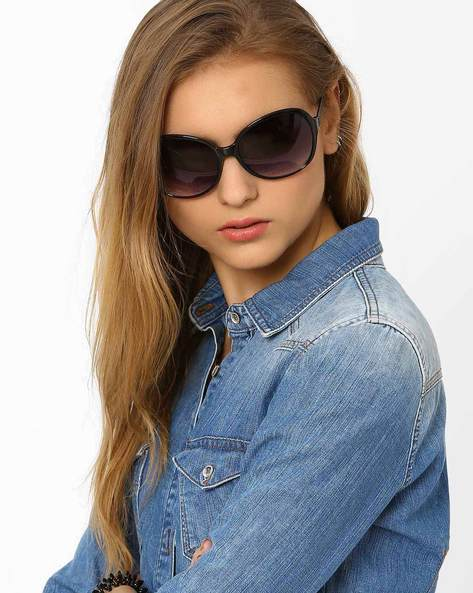 UV Protected Oversized Sunglasses By Joe Black ( Black )