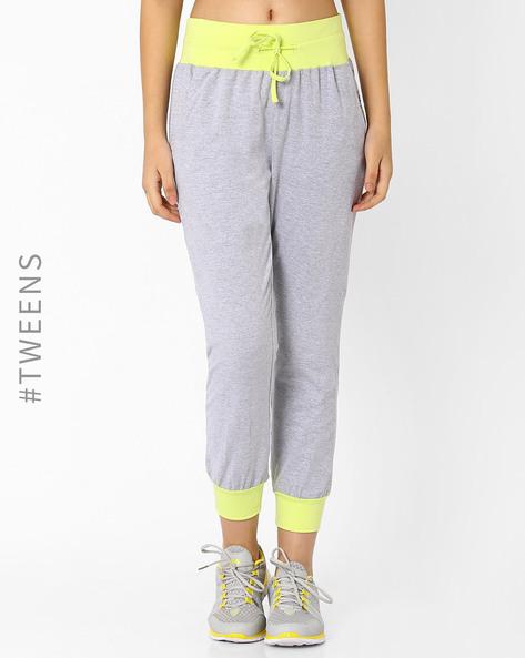 Cuffed Track Pants By AJIO Girl ( Greymelange )