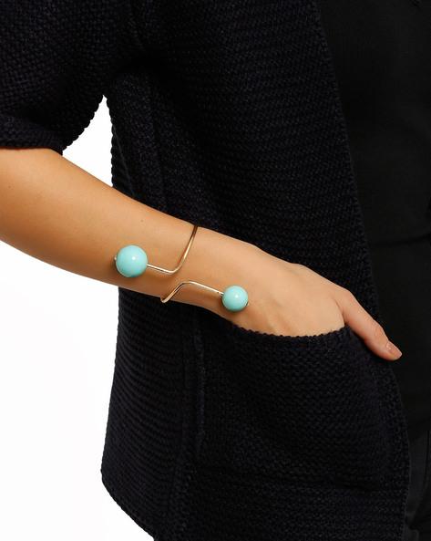 Open Cuff Bracelet By Style Fiesta ( Gold )