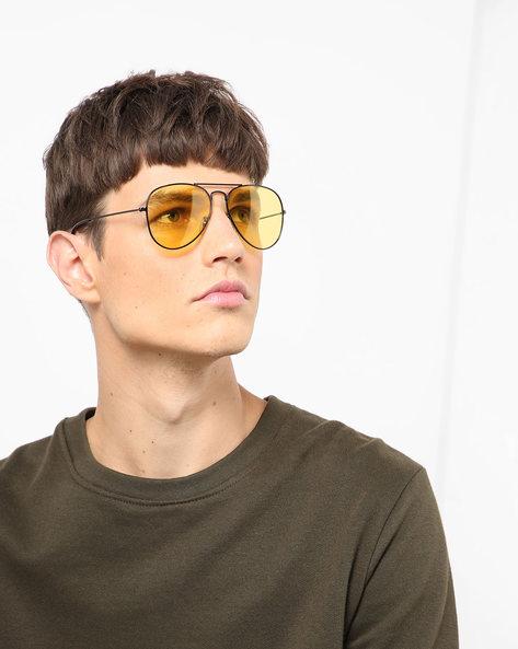 Full-Rim Aviator Sunglasses By CREED ( Yellow )