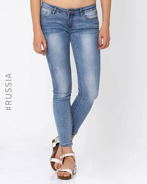 Lightly Washed Skinny Jeans By Kira Plastinina ( Lightblue )