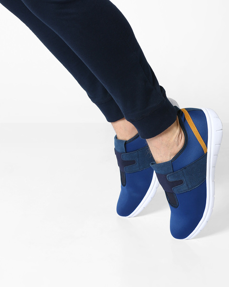 Slip-On Sneakers With Overlay By Muddman ( Navy )
