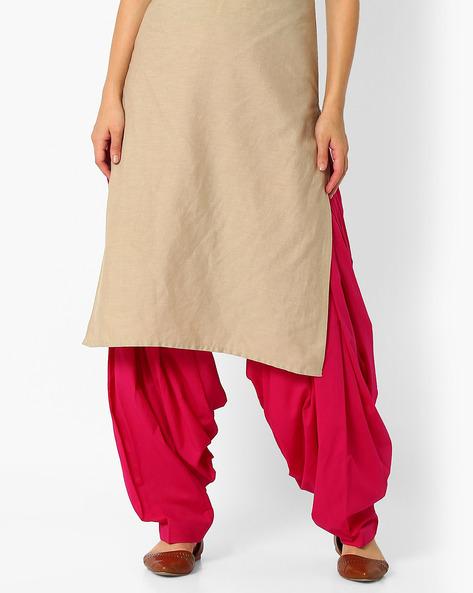 Cotton Patiala Pants By Stylenmart ( Pink )