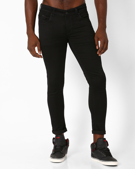 Slim Fit Low-Rise Jeans By SPYKAR ( Black )
