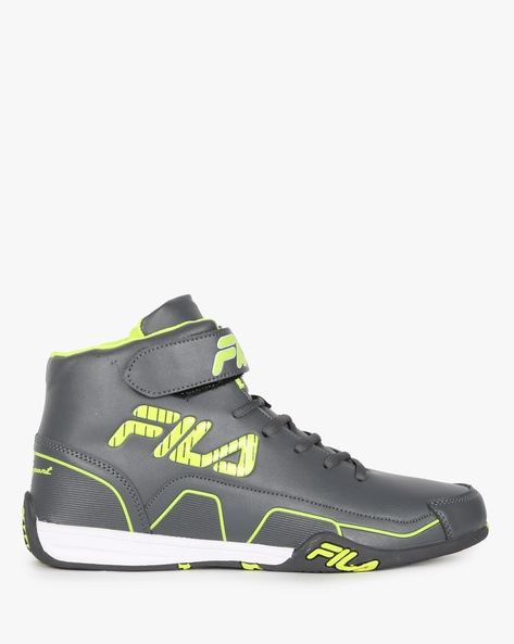 Torque High-Top Sneakers With Velcro Strap By FILA ( Grey )