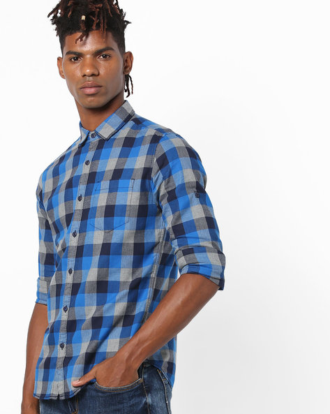 Yarn-Dyed Checked Shirt By Locomotive ( Multi )