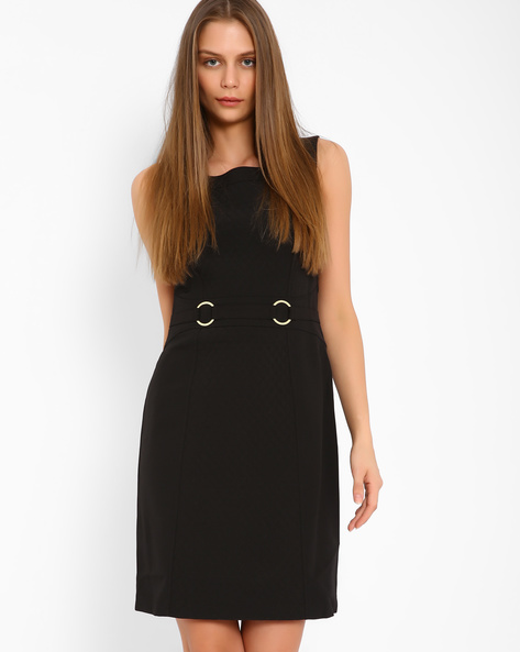 Quilted Sheath Dress By AJIO ( Black )