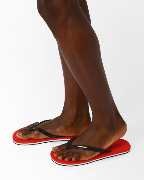 Thong-Style Flip-Flops By Sole Threads ( Red )
