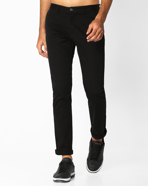 Slim Fit Flat-Front Trousers By US POLO ( Assorted )