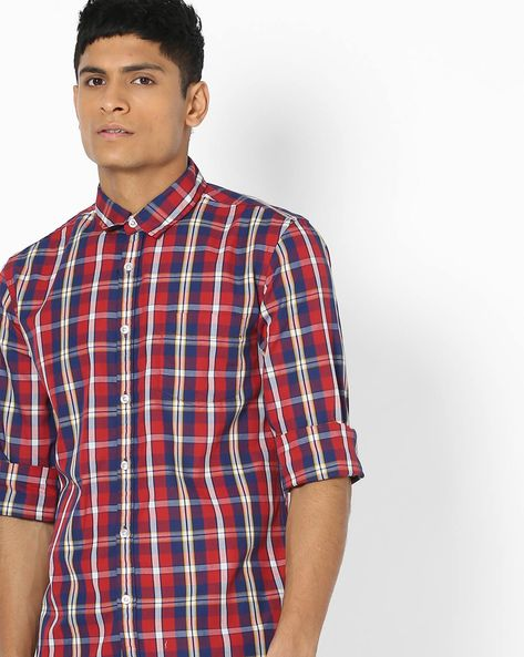 Checked Shirt With Patch Pocket By FLYING MACHINE ( Assorted ) - 440720232002