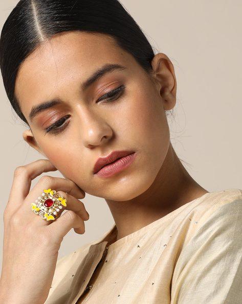 Matte Finish Brass Ring By Indie Picks ( Multi ) - 460161685001