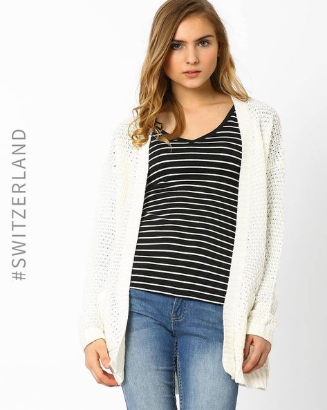 Open-Front Cardigan By TALLY WEiJL ( Beige )