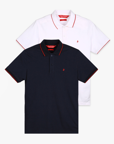Pack Of 2 Polo T-shirts By JOHN PLAYERS ( Multi )