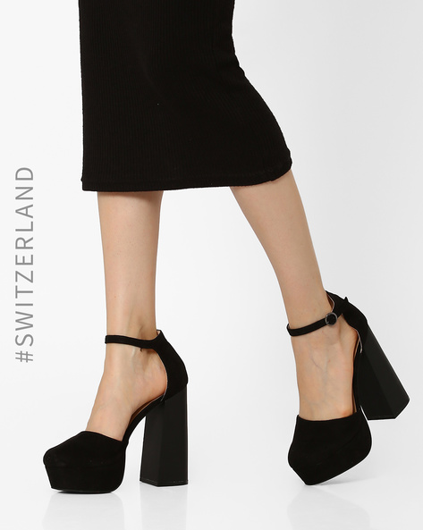 Chunky High-Heeled Sandals By TALLY WEiJL ( Black )