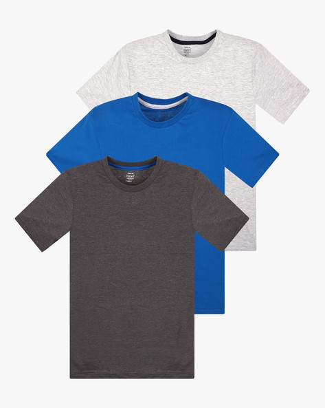 Pack Of 3 Cotton T-shirts By HANES ( Assorted )
