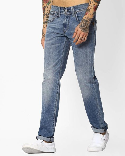 Lightly-Washed Slim Fit Jeans By LEVIS ( Blue )
