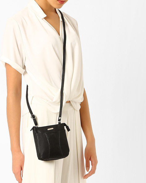 Panelled Sling Bag By Lavie ( Black )