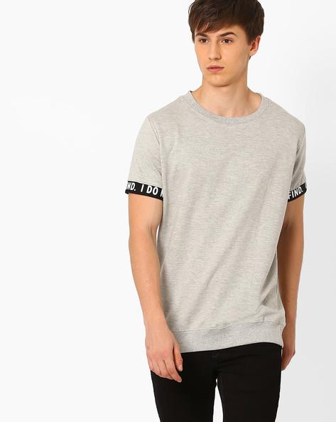 Sweatshirt With Ribbed Hems By ADAMO LONDON ( Greymelange )